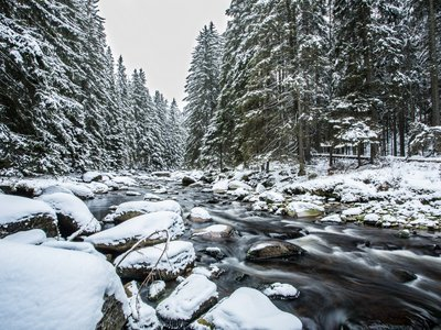 EA Mountain hotel Hajenka*** - hotel surroundings - the Vydra River in winter